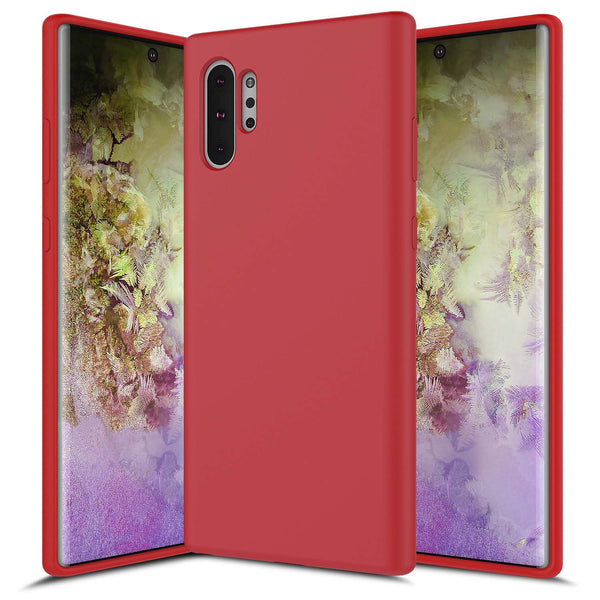 Galaxy NOTE 10 Plus Soft Silicone Red