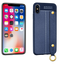 iPhone XR Leather TPU With Strap Holder and Ring Blue