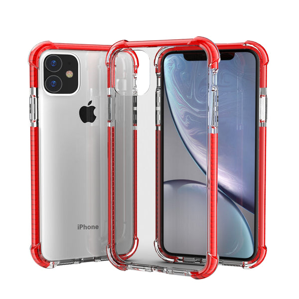 Red iPhone 11 TPU Bumper Ultra Clear Back TPU Shockproof
