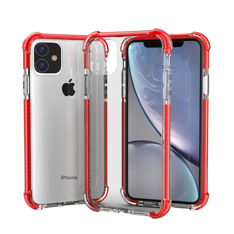 Red iPhone 11 PRO TPU Bumper Ultra Clear Back TPU Shockproof