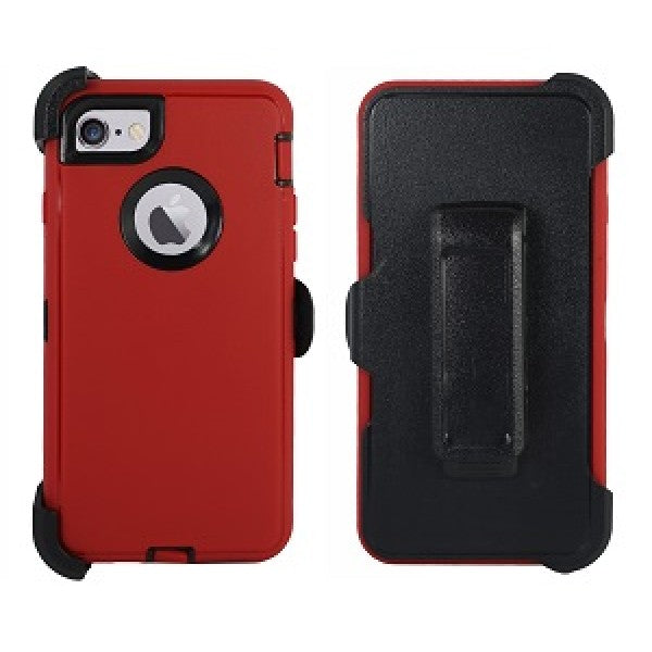 iPhone 8/7 Plus Heavy Duty Case Red