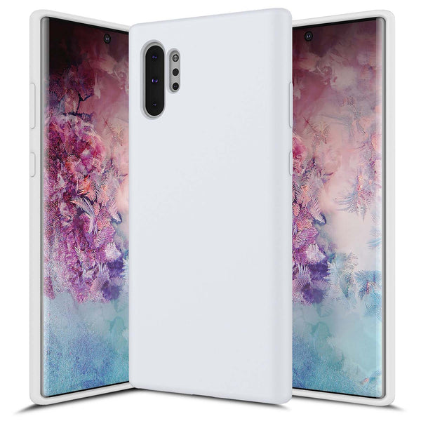Galaxy NOTE 10 Plus Soft Silicone White
