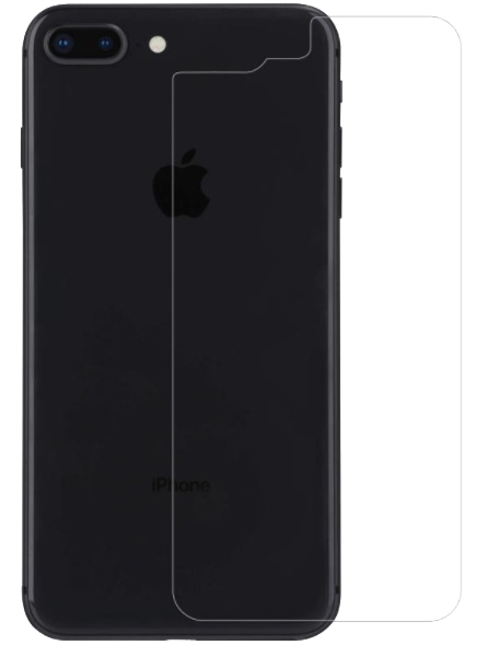 iPhone 8/7 Plus Back Tempered Glass Clear