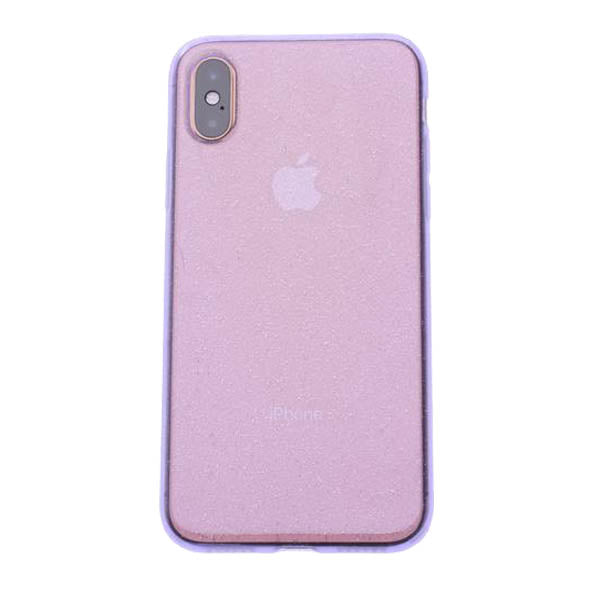 Purple Silicone Glitter iPhone X/XS