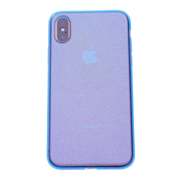 Blue Silicone Glitter iPhone XR