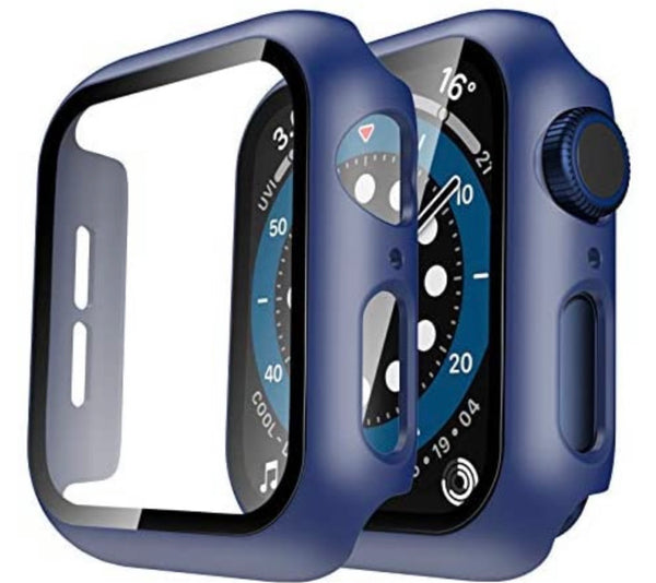 44mm Bumper case Navy for apple watch with tempered glass built in