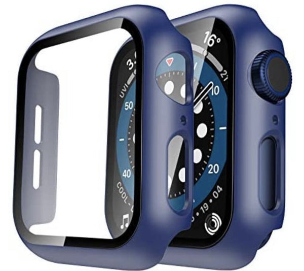 40mm Bumper case Navy for apple watch with tempered glass built in