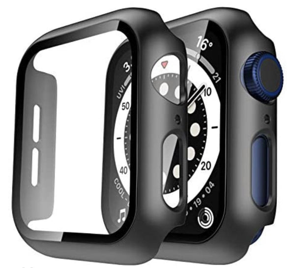 38mm Bumper case Black for apple watch with tempered glass built in