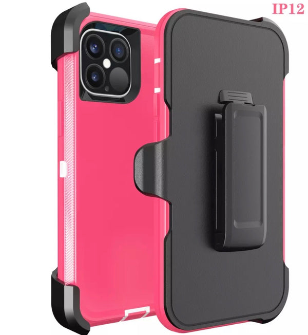 iPhone 12 PRO MAX 6.7 Heavy Duty Case Pink White