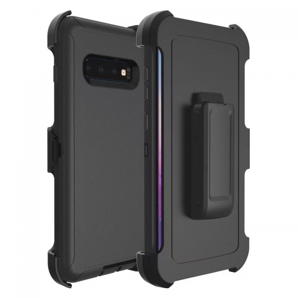 Black Galaxy S10 Plus Heavy Duty Case
