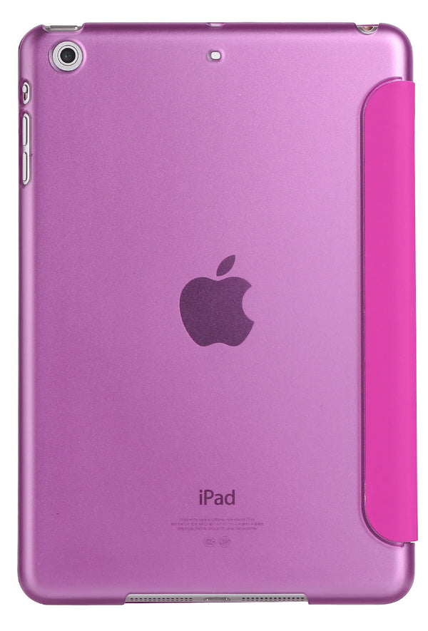 iPad Mini 4/5 Smart Cover with Sleep Mode Clear Back Pink
