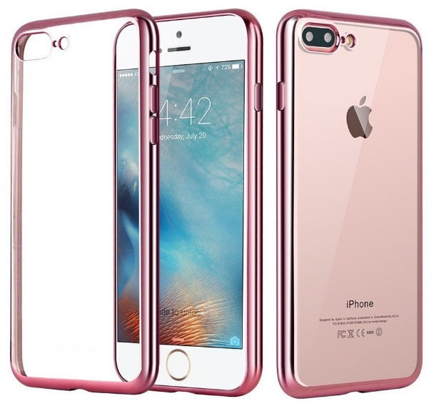 iPhone 8/7 TPU Metal Frame Rose Gold