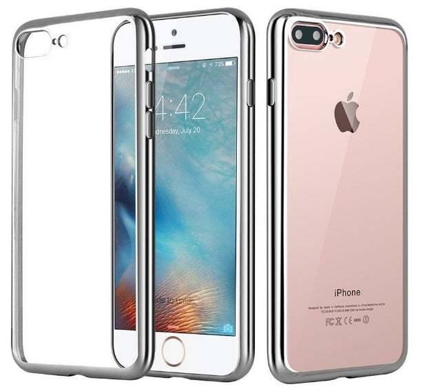iPhone 8/7 TPU Metal Frame Silver