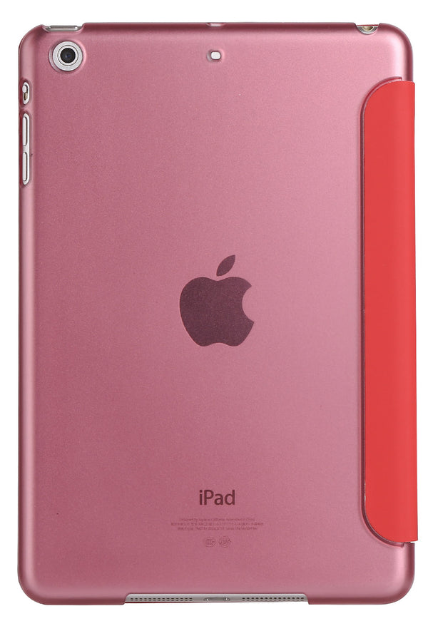 Red iPad Pro 12.9 Smart Cover with Sleep Mode Clear Back