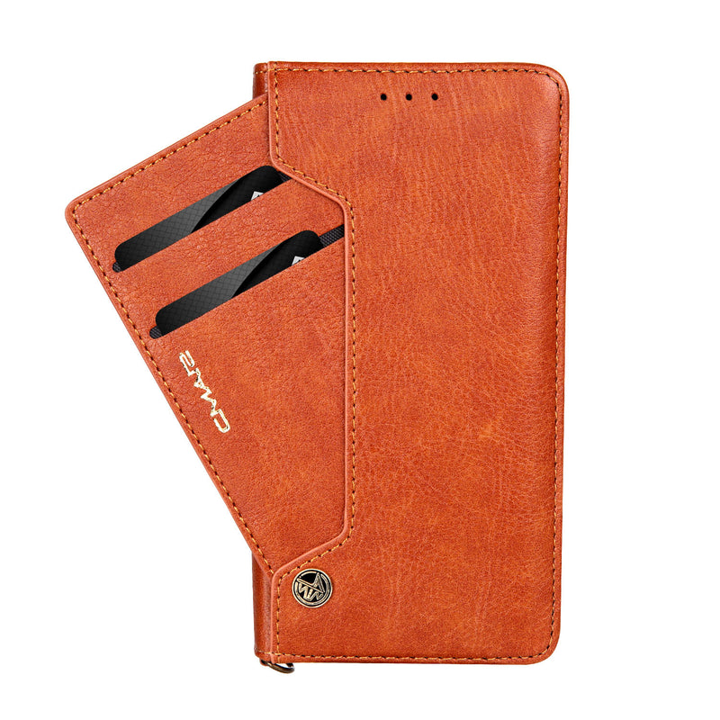 iPhone XS MAX Multi Card Wallet Brown