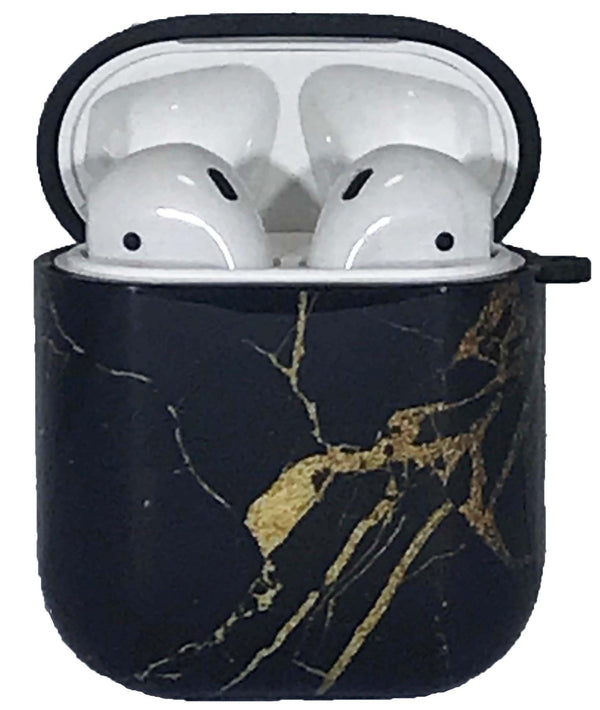Black Gold Marble Air Pods Case TPU