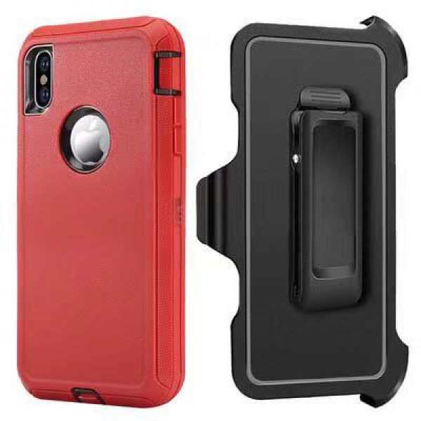 Red iPhone XS MAX Heavy Duty Case