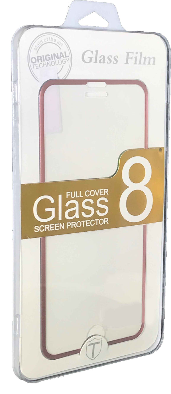iPhone 8/7 Plus Tempered Glass Metal Frame Rose Gold