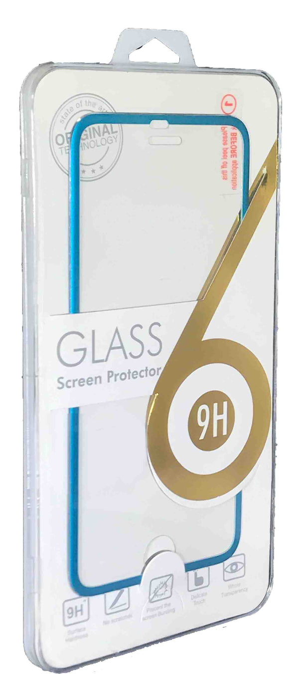iPhone 8/7 Tempered Glass Metal Frame Blue