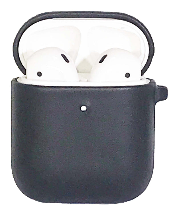 Air Pods Case Black Leather