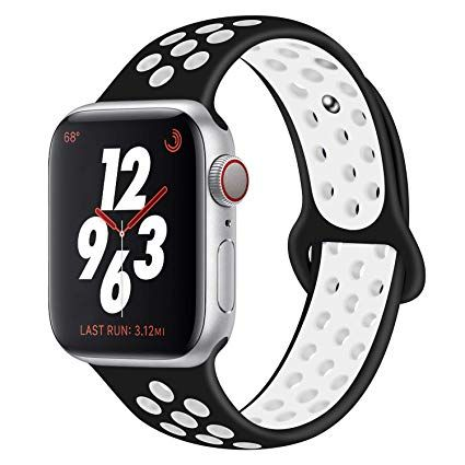 "Watch Sport Band 38""/40"" Black White"
