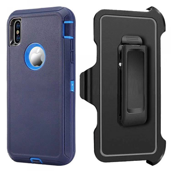 Navy Blue iPhone XS MAX Heavy Duty Case