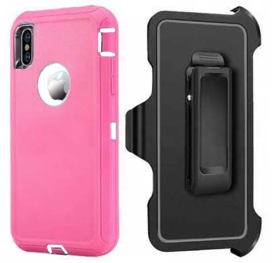 Pink iPhone XS MAX Heavy Duty Case