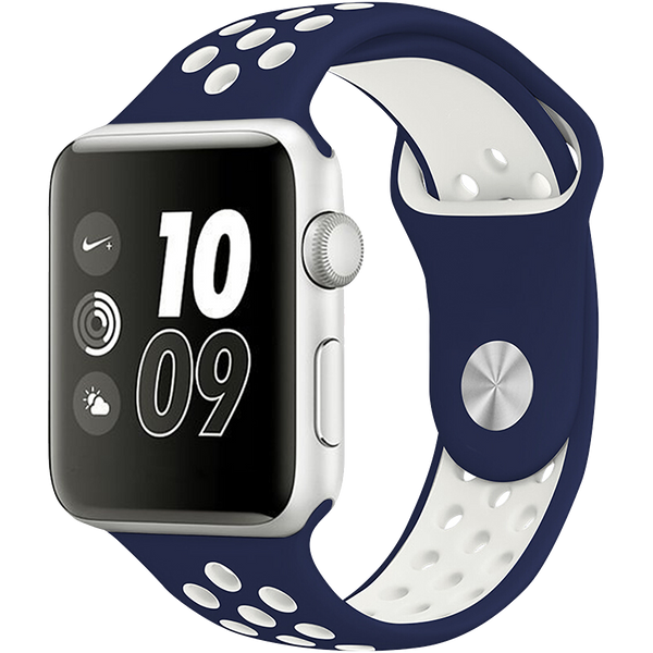 "Watch Sport Band 42""/44"" Navy Blue White"