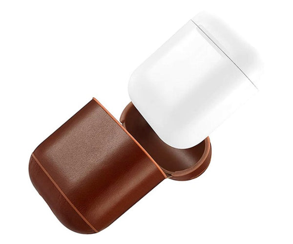 Air Pods Brown Leather Case