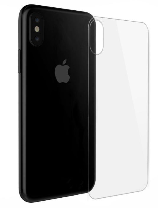iPhone X/XS Back Tempered Glass Clear