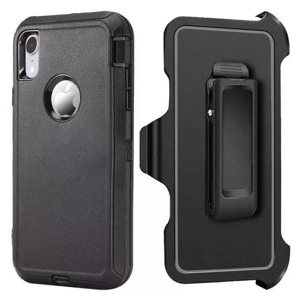 Black iPhone XS MAX Heavy Duty Case
