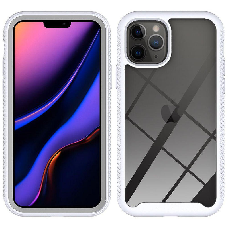 White iPhone 11 PRO TPU Star Frame Case