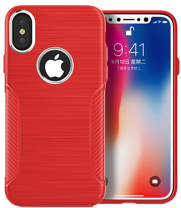 iPhone X/XS Carbon INT Case Red