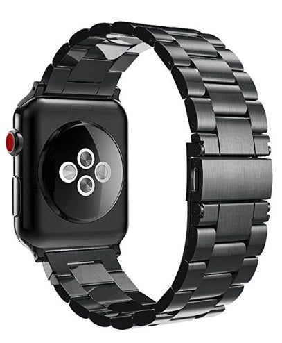 "Watch Stainless Steel MetalBand 38""/40"" Black"