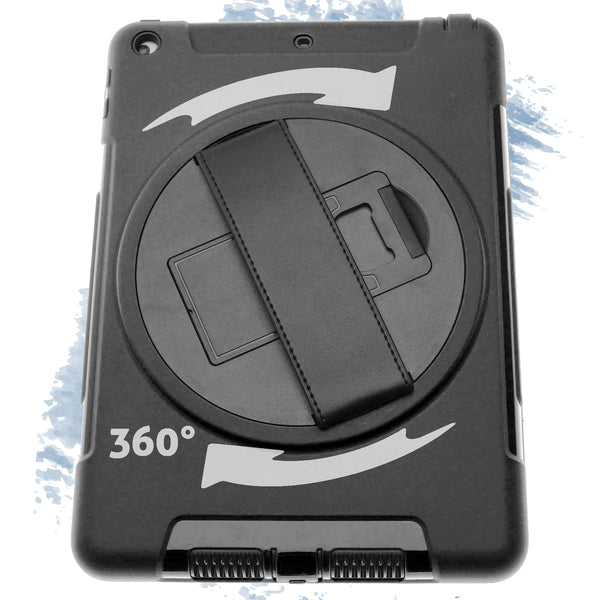 "iPad 11"" Defender Case with Black Strap Black"