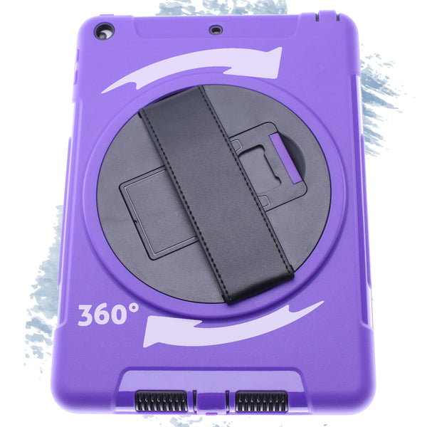Purple iPad pro 12.9Defender Case with Black Strap