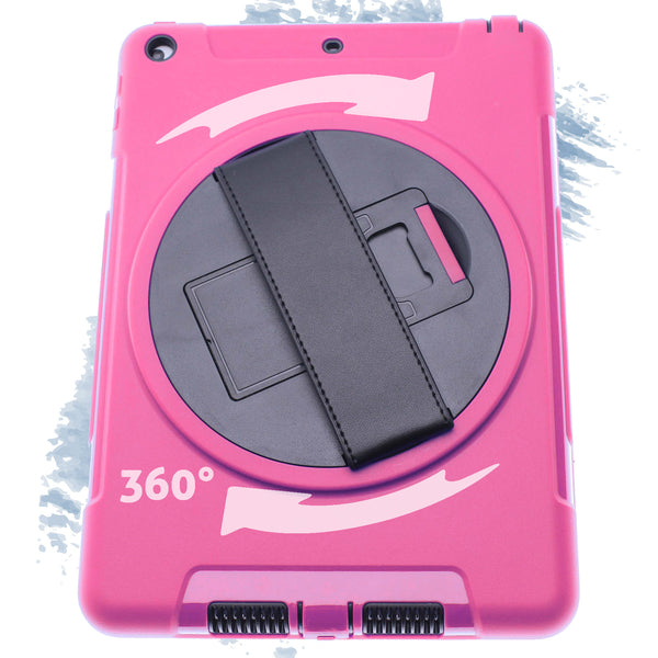 Pink iPad pro 12.9Defender Case with Black Strap
