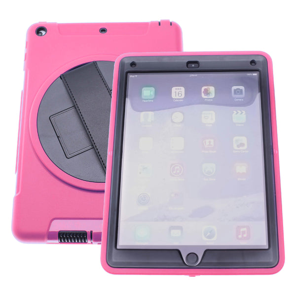 Pink iPad pro 12.9 (2019)Defender Case with Black Strap