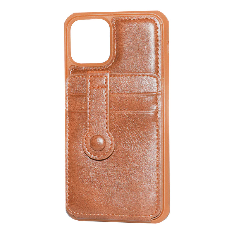 Brown iPhone 11 Pro MAX Back Wallet case