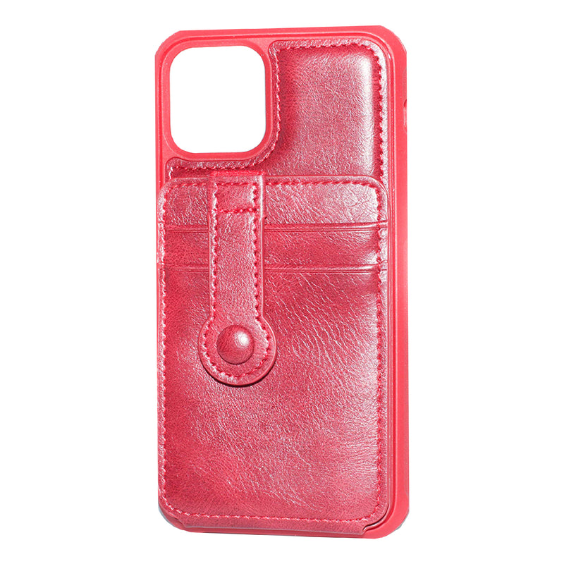 Red iPhone 11 Pro Back Wallet case