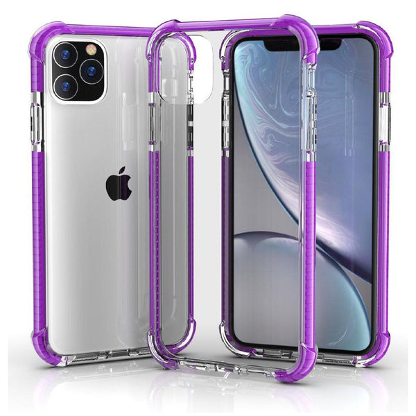 Purple iPhone 11 PRO MAX TPU Bumper Ultra Clear Back TPU Shockproof