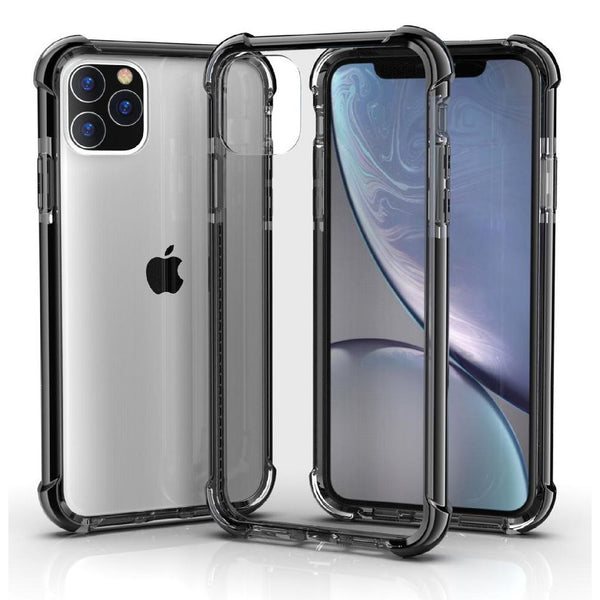 Black iPhone 11 TPU Bumper Ultra Clear Back TPU Shockproof