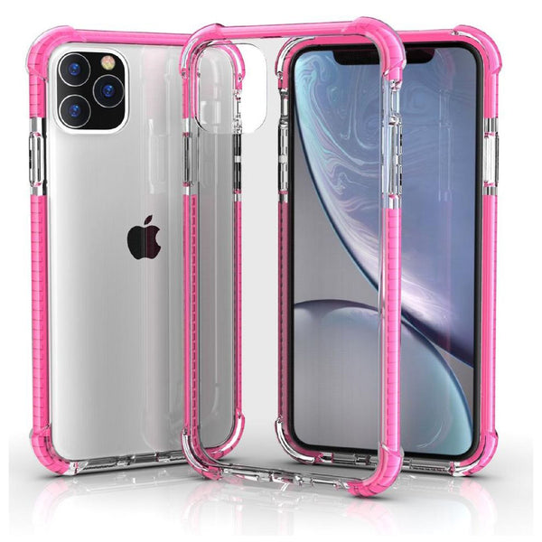 Pink iPhone 11 TPU Bumper Ultra Clear Back TPU Shockproof