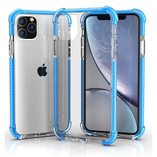 Blue iPhone 11 TPU Bumper Ultra Clear Back TPU Shockproof