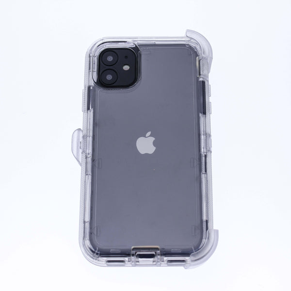 Clear iPhone 11 Heavy Duty with Clear Holster