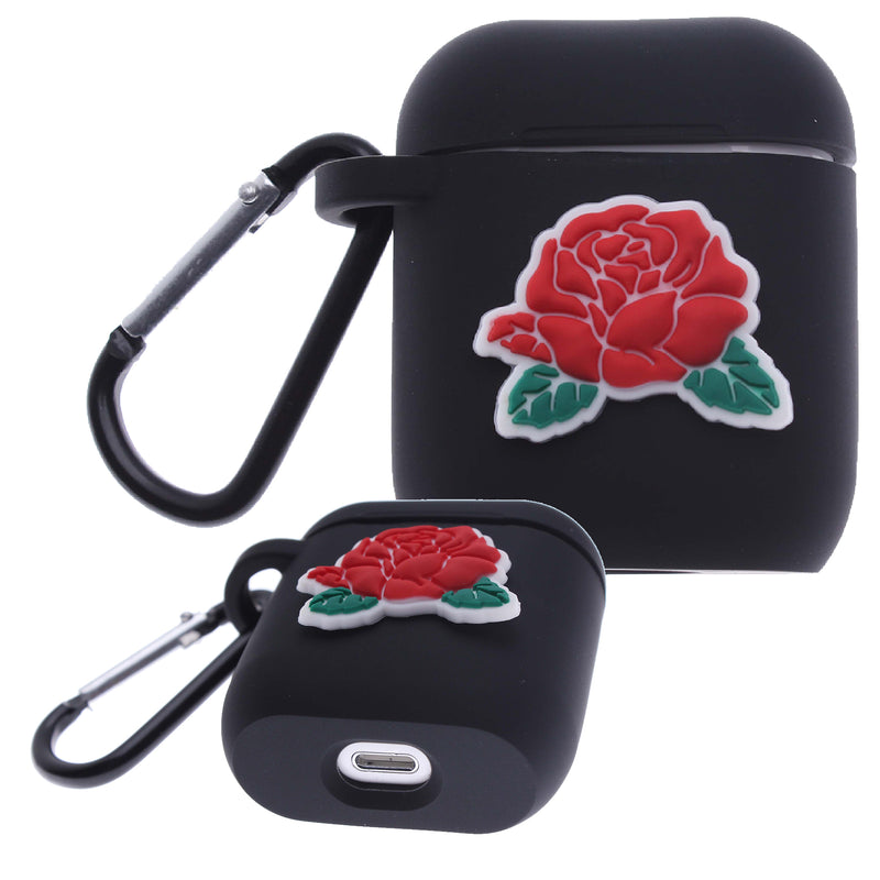 Air Pod Silicone Case 2D Red Flower Design