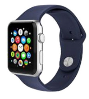 "Watch Sillicone Band 42""/44"" Navy Blue"