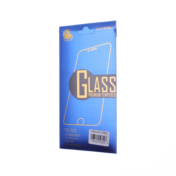 Clear iPhone iPhone 11 Pro / X / XS Glue Tempered Glass 5.8""