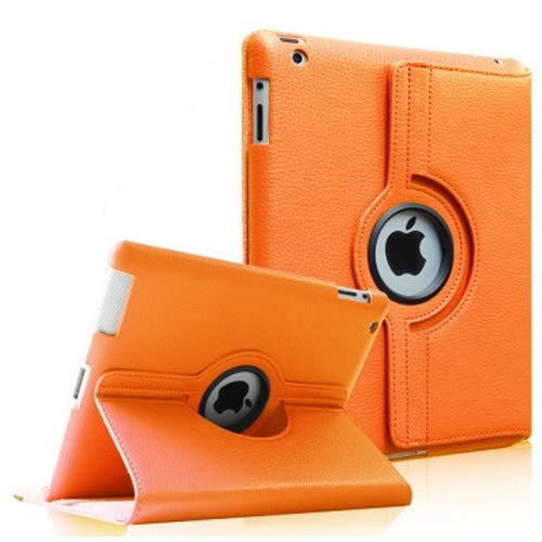 "Orange iPad 11"" PU Leather Folio Folding 360 Case"