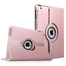 "Rose Gold iPad Air 1 / Air 2 / Pro 9.7"" / iPad 9.7"" (2017/2018) PU Leather Folio Folding 360 Case With Rubber Touch Pen Holder"